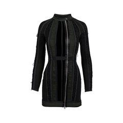 Ruched Velvet Panel Dress