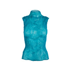 Turquoise Pleated Top