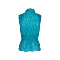 Issey miyake turquoise pleated top 2?1558111988