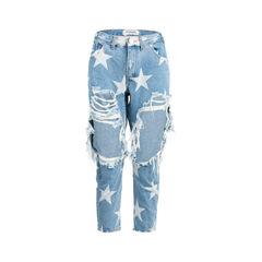 Le Punk Saints Jeans with Star Print