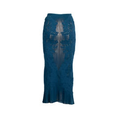 Issey miyake stretch lace cut out skirt 4?1558245032