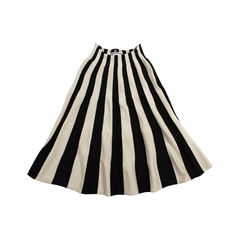 Striped Knit Flare Skirt
