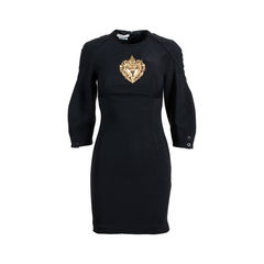 Metal Crest Sheath Dress