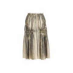 Issey miyake metallic finish ruched skirt 3?1558245219