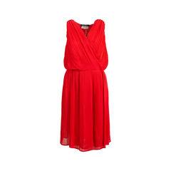 Pleated Foldover Dress