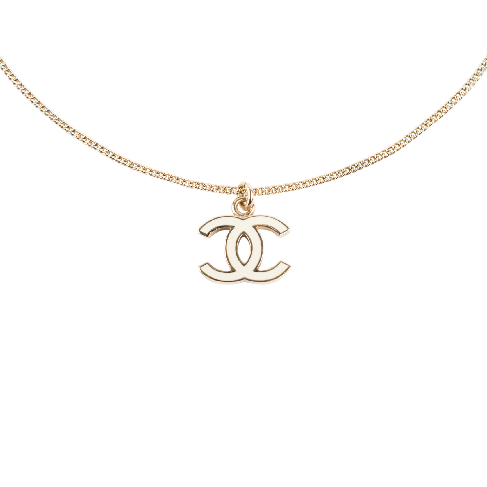 8044320c6e1 Authentic Second Hand Chanel Enamel CC Necklace (PSS-556-00028) - THE FIFTH  COLLECTION