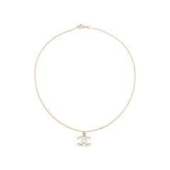 Chanel enamel cc necklace 2?1558584418