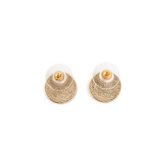 Chanel logo button earrings 2?1558584454