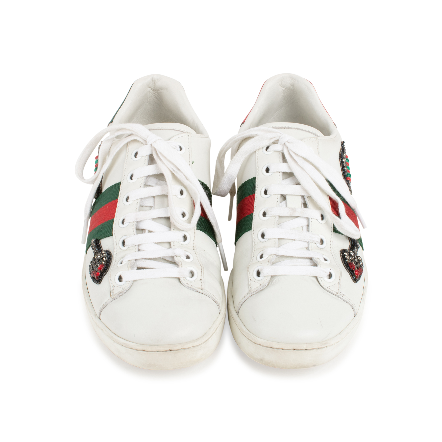 8dc67c74e Authentic Second Hand Gucci Arrow Ace Embroidered Sneakers (PSS-255-00017)  - THE FIFTH COLLECTION