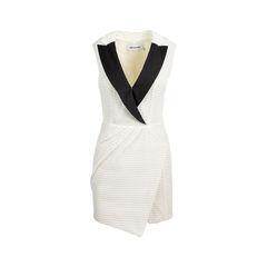 Sculpted Tuxedo Dress