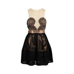Lace Metallic Dress