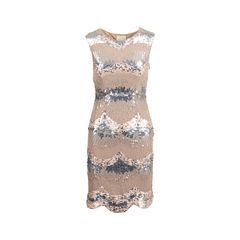 Embellished Sequin Sheath Dress