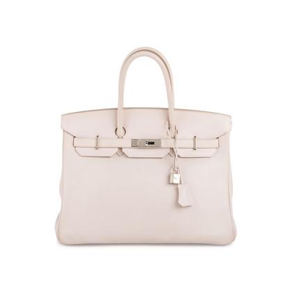 Authentic Second Hand Hermès Rose Dragee Swift Birkin 35 (PSS-172-00004)