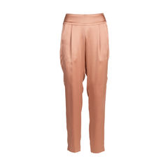 Pleated Silk Trousers
