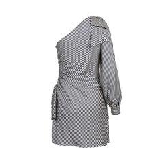 Zimmermann striped one shoulder ruched dress 2?1559723623
