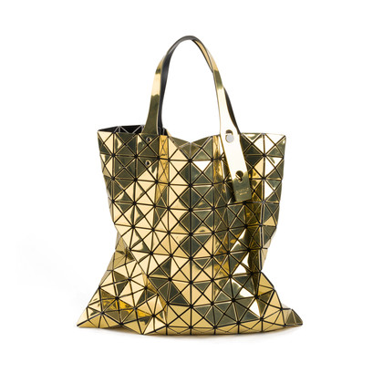 Authentic Second Hand Issey Miyake Gold Bao Bao Prism Tote (PSS-668-00005)
