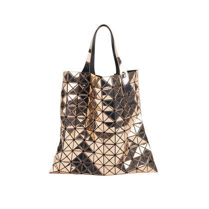 Authentic Second Hand Issey Miyake Gunmetal Bao Bao Prism Tote (PSS-668-00002)