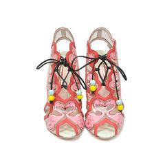 Flamingo Lace Up Heels