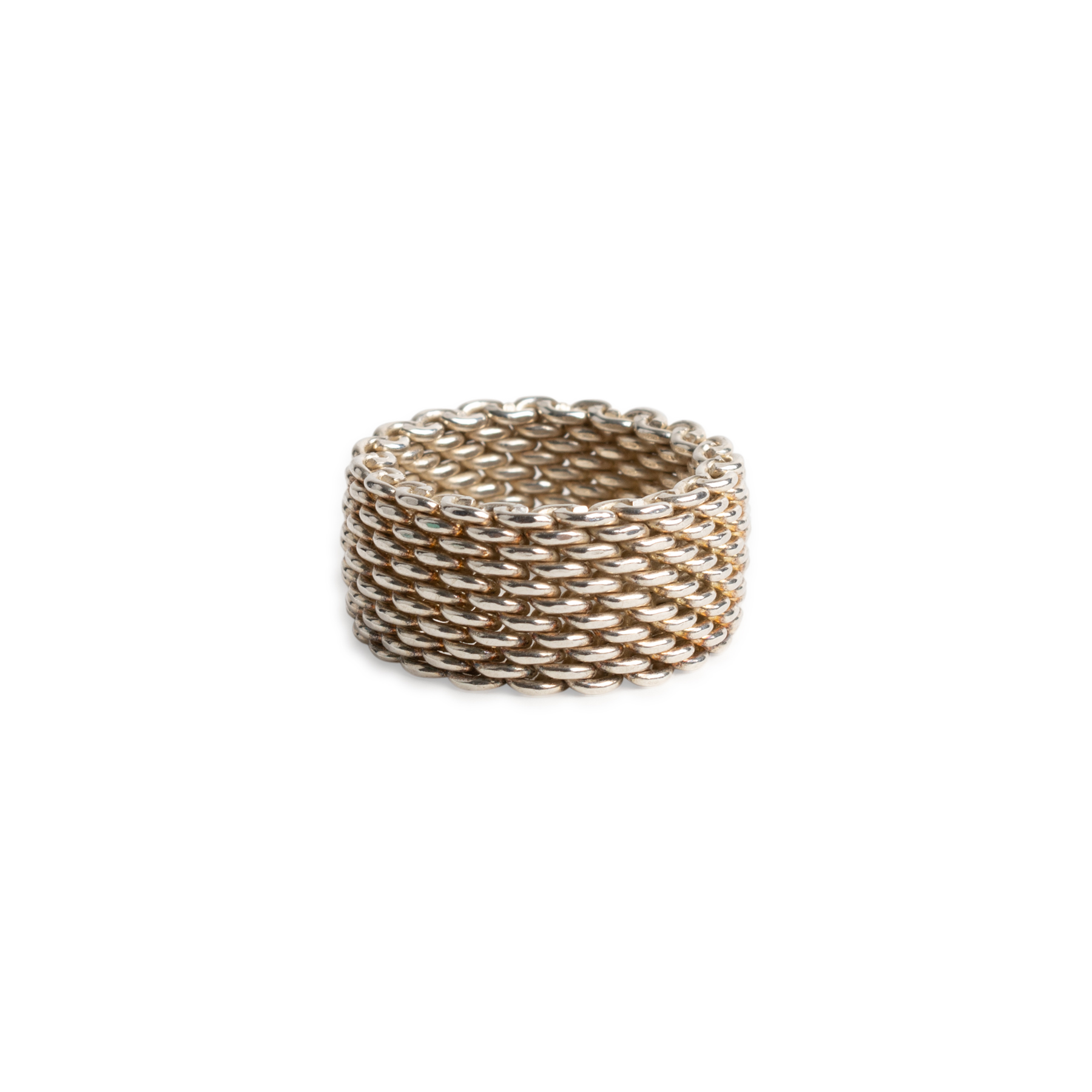 753720ba8 Authentic Second Hand Tiffany & Co Somerset Mesh Ring (PSS-668-00013) - THE  FIFTH COLLECTION