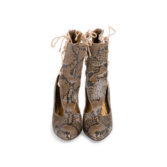 Python Lace Side Boots
