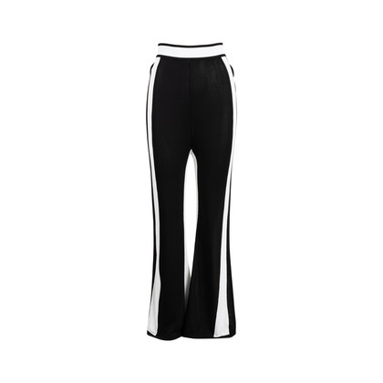 Authentic Second Hand Balmain Side Stripe Knit Trousers (PSS-200-01701)