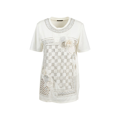 Authentic Second Hand Balmain Rose Appliquè Sequin T-Shirt (PSS-200-01706)