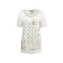 Authentic Second Hand Balmain Rose Appliquè Sequin T-Shirt (PSS-200-01706) - Thumbnail 0