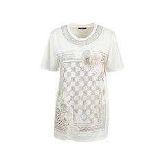 Rose Appliquè Sequin T-Shirt