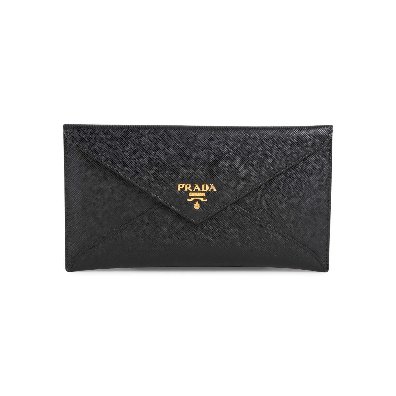 78643873 Authentic Second Hand Prada Saffiano Envelope Wallet (PSS-568-00006 ...