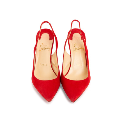Authentic Second Hand Christian Louboutin Clare Suede Slingback Pumps (PSS-681-00003)
