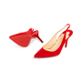 Authentic Second Hand Christian Louboutin Clare Suede Slingback Pumps (PSS-681-00003) - Thumbnail 1