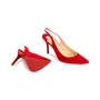Authentic Second Hand Christian Louboutin Clare Suede Slingback Pumps (PSS-681-00003) - Thumbnail 2