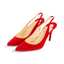 Authentic Second Hand Christian Louboutin Clare Suede Slingback Pumps (PSS-681-00003) - Thumbnail 3