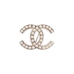 CC Silver Pearl Brooch