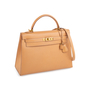 Authentic Vintage Hermès Courchevel Kelly 32 Sellier (PSS-441-00046) - Thumbnail 5