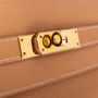 Authentic Vintage Hermès Courchevel Kelly 32 Sellier (PSS-441-00046) - Thumbnail 9
