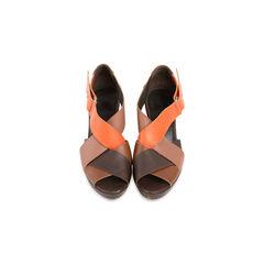 Woven Block Heel Sandals