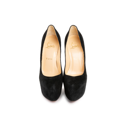 Authentic Second Hand Christian Louboutin Suede Daffodile Pumps (PSS-676-00003)