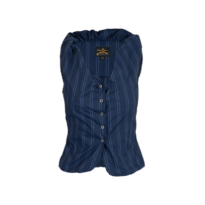Authentic Second Hand Vivienne Westwood Anglomania Pinstriped Vest Top (PSS-676-00020)