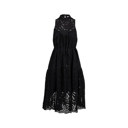 Authentic Second Hand Zimmermann Harlequin Broderie Panel Dress (PSS-414-00066)