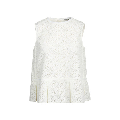 Authentic Second Hand Comme Moi White Lace Top (PSS-414-00033)