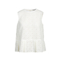 Authentic Second Hand Comme Moi White Lace Top (PSS-414-00033) - Thumbnail 0