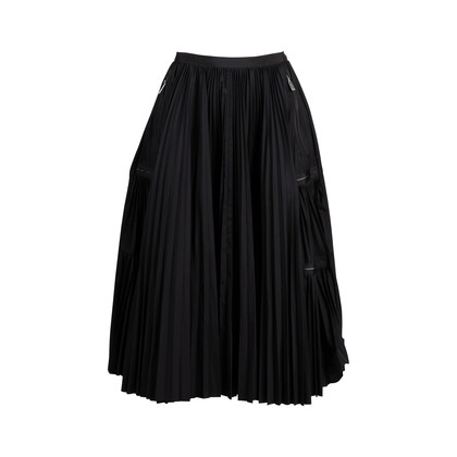 Authentic Second Hand Sacai Pleated Zip Details Skirt (PSS-414-00037)