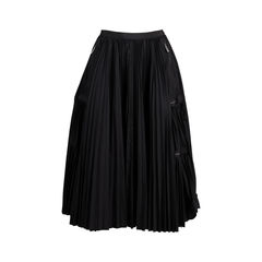 Pleated Zip Details Skirt