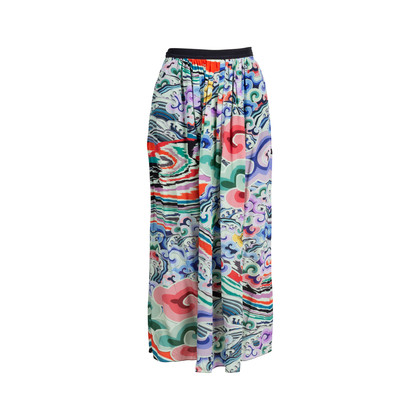 Authentic Second Hand Mary Katrantzou Pre-Fall 2016 Printed Long Skirt (PSS-414-00038)