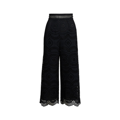 Authentic Second Hand Zimmermann Meridian Embroidered Crop Pant (PSS-414-00043)