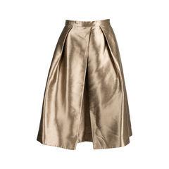 Halcyon Metallic Pleated Taffeta Skirt