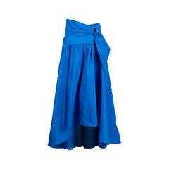 Bright Blue Taffeta Skirt
