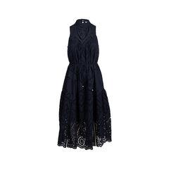 Harlequin Broderie Panel Dress