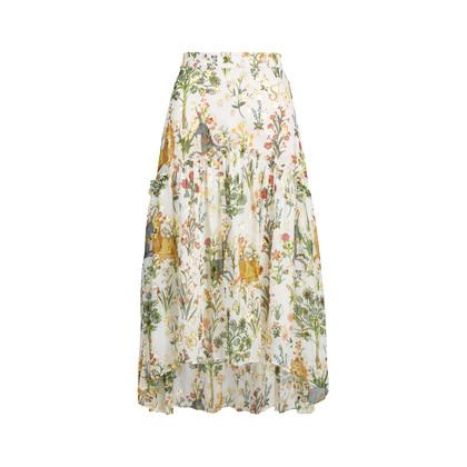 Authentic Second Hand Sretsis by Pim Sukhahuta Printed High Low Skirt (PSS-414-00070)